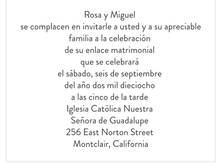 9 best invitations in spanish images on pinterest invitation wording sample for wedding invitation in spanish stopboris Choice Image