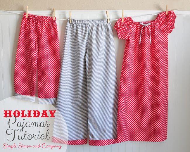 Holiday Pajamas Tutorial {Christmas Traditions Series}