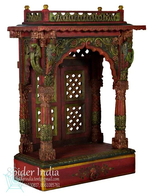 handicrafts wood carved home pooja temple/mandir