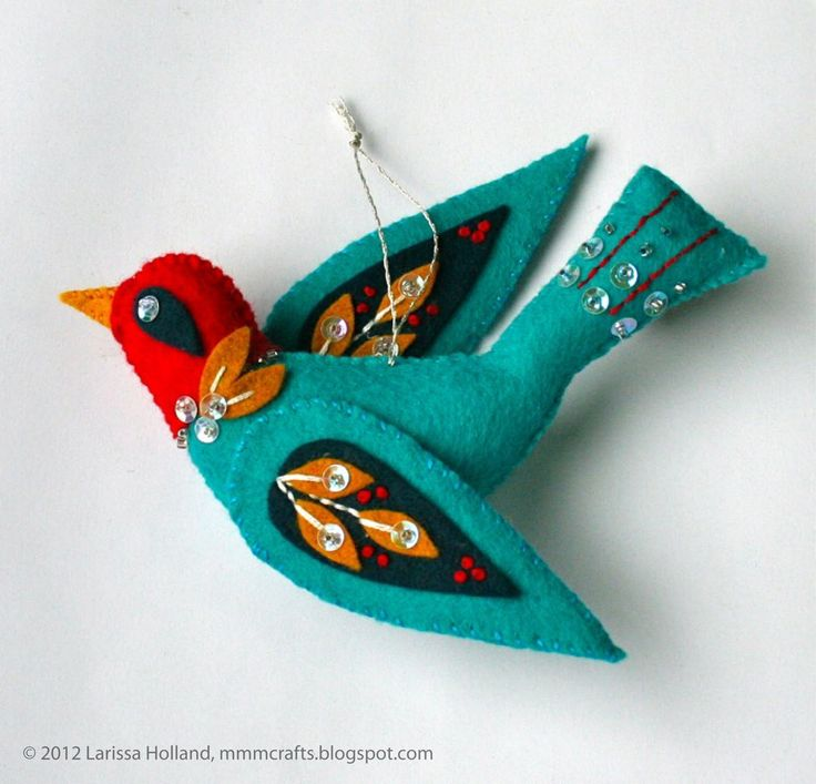 mmmcrafts: blue bird of happiness....same pattern as snowbird.( on this board)
