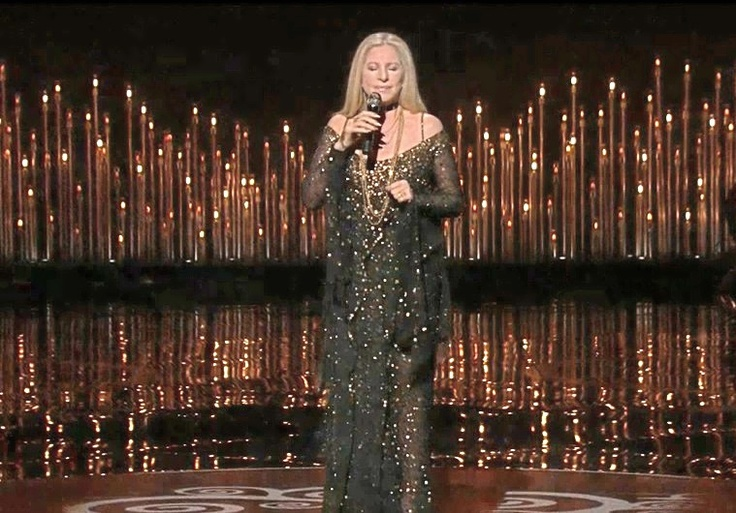 """Barbra Streisand performance of """"The Way We Were"""" in tribute to Marvin Hamlisch at the #Oscars #Oscars2013."""