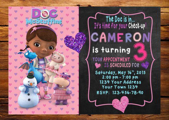 Doc McStuffin Invitation Doc McStuffins by DigitalSentiments