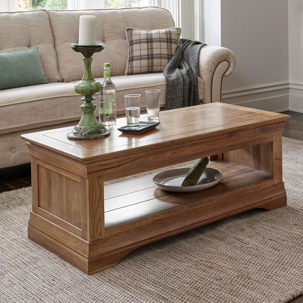 Rustic Solid Oak Coffee Tables Table French