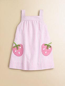 BOLSILLOS O APLIQUE DE FRESAS Florence Eiseman - Toddler's & Little Girl's Seersucker Strawberry Dress