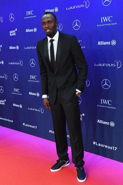 Usain Bolt Photos Photos - Laureus World Sportsman of the Year Award nominee Athlete Usain Bolt of Jamaica attends the 2017 Laureus World Sports Awards at the Salle des Etoiles,Sporting Monte Carlo on February 14, 2017 in Monaco, Monaco. - Red Carpet - 2017 Laureus World Sports Awards - Monaco