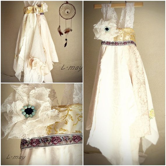 made to order country hippie bohemian flower girl by ledamay