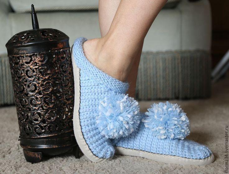 Купить Тапочки-шлепки Голубой сюрприз р.36 - тапочки, тапочки домашние