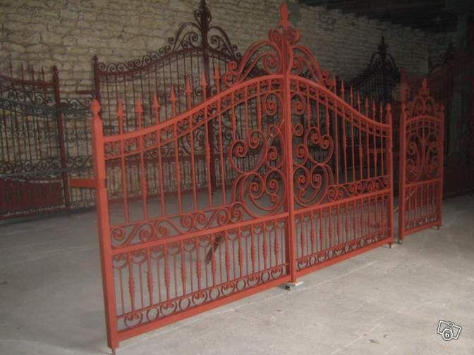 Beau portail fer forg main modele sud ouest bricolage charente leboncoin f - Nom de maison fer forge ...