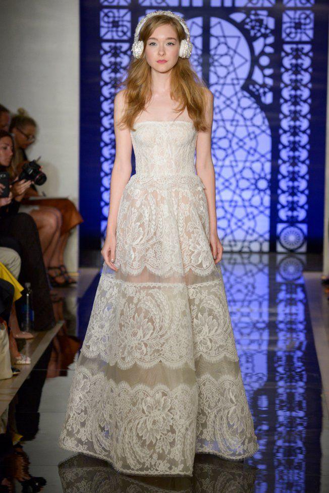 Robe de mariée bustier Reem Acra brd F16 004                                                                                                                                                                                 Plus