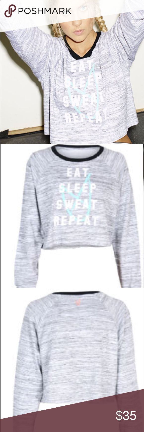 Mink Pink Repeat It Slouchy Sweater Super cute crop sweater from Mink Pink. Eat Sleep Sweat Repeat ❤️ MINKPINK Sweaters Crew & Scoop Necks