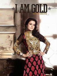 Ameesha Patel Black Brasso Bollywood Salwar Kameez