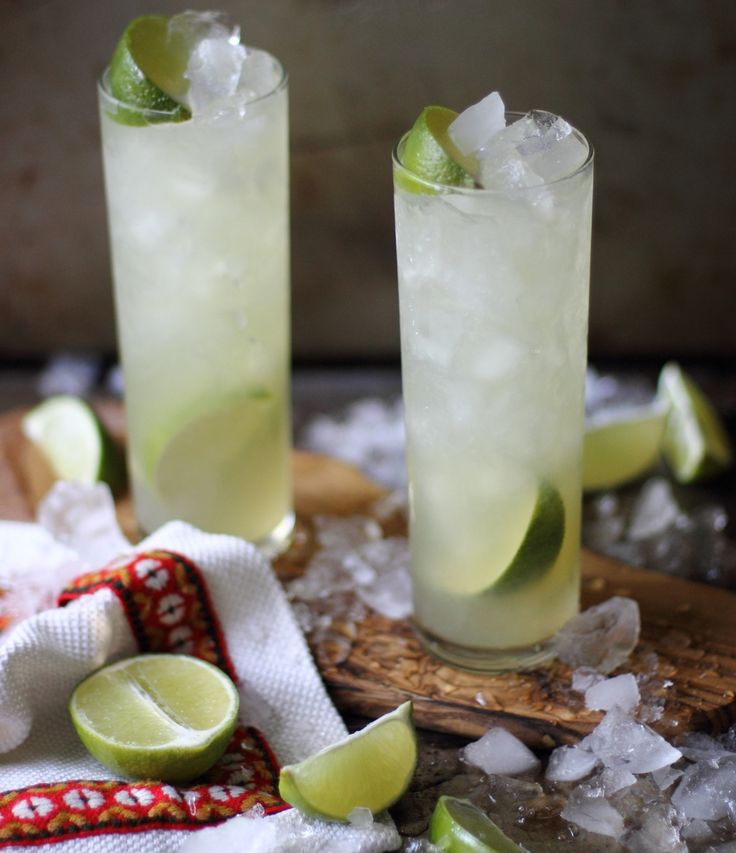 Made with a Brazilian rum called Cachaca which is made from sugar cane; you sweeten it with sugar or agave in this case, and lots of fresh lime juice.