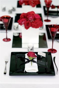 18 best black and white images on Pinterest | Red wedding, Valantine ...