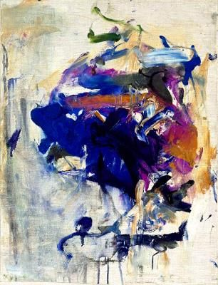 Joan Mitchell. A cross between land and unknown/non objective.