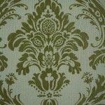 1950s Flock Wallpaper Baroque Style