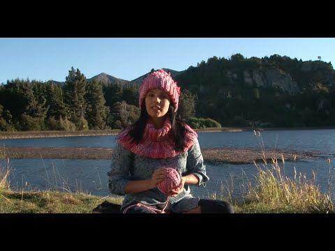 Tejiendo en la Patagonia. Kit de cuello y gorro rectangular - YouTube