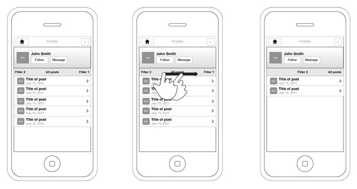 Wireframe scrolling.