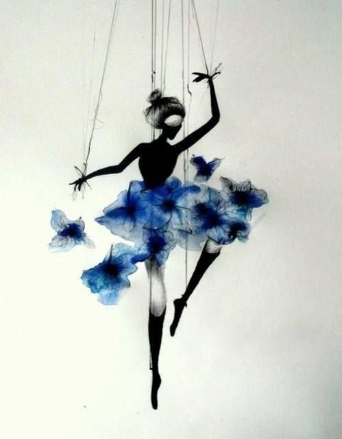 I would have this as a tattoo to represent my little sweet pea that loves to dance. It's gorgeous Sere Rivers | https://www.facebook.com/Rivers.Illustration