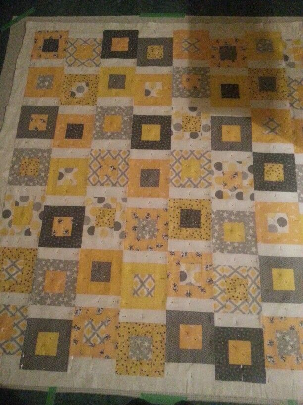 Wee Nate's quilt. Next stage quilting!