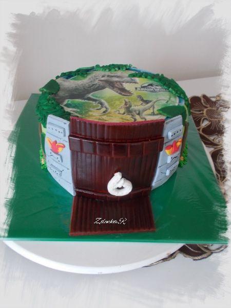 Jurský park dort.