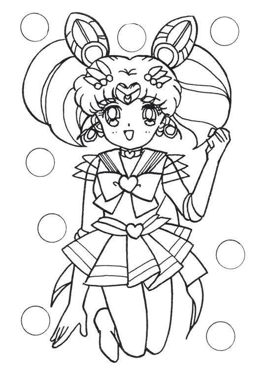 chibi moon coloring pages - photo#9