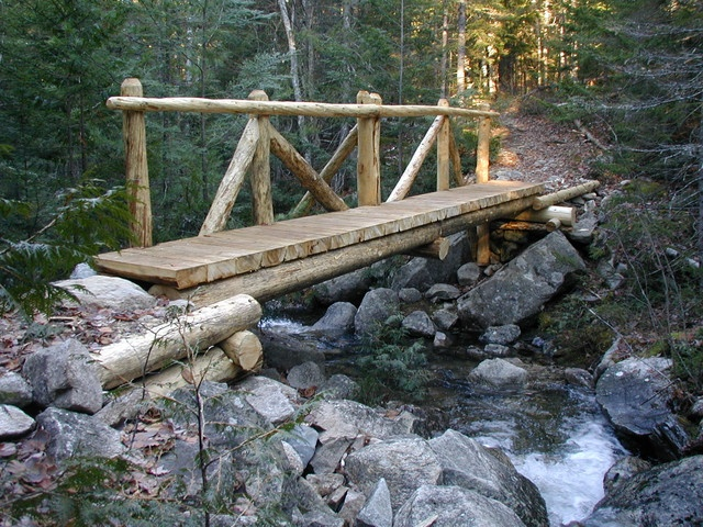 8 best images about bridge path on pinterest planks for Garden pond bridge