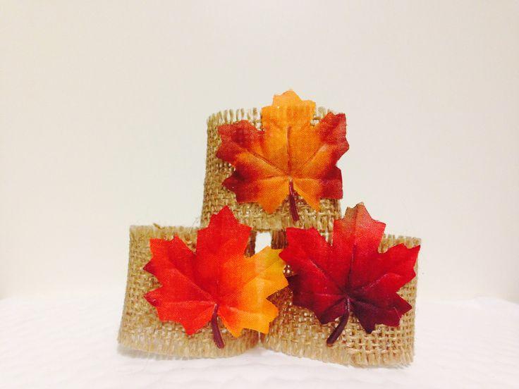 Fall Burlap & Leaf Napkin Rings!