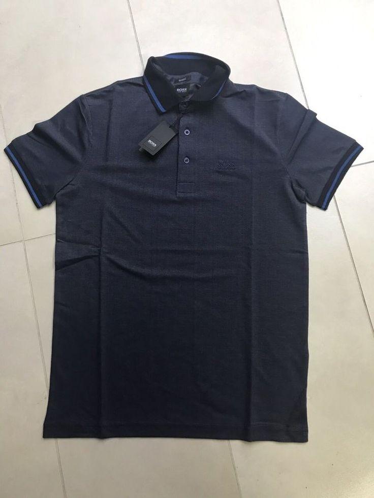 Hugo Boss Color Indigo Blue Men Tshirt Black Label Polo New size XXL #HuggoBoss #MoistureManeger