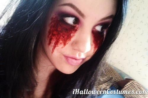 crying blood makeup for Halloween - Halloween Costumes 2013