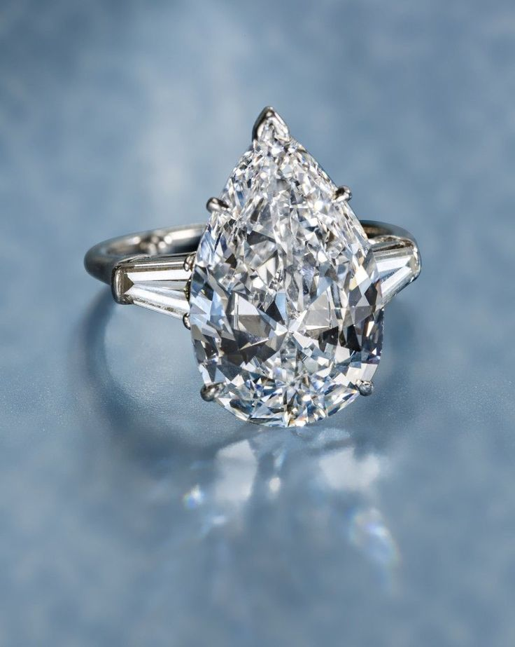 A diamond solitaire ring, Harry Winston. Photo courtesy Bonhams