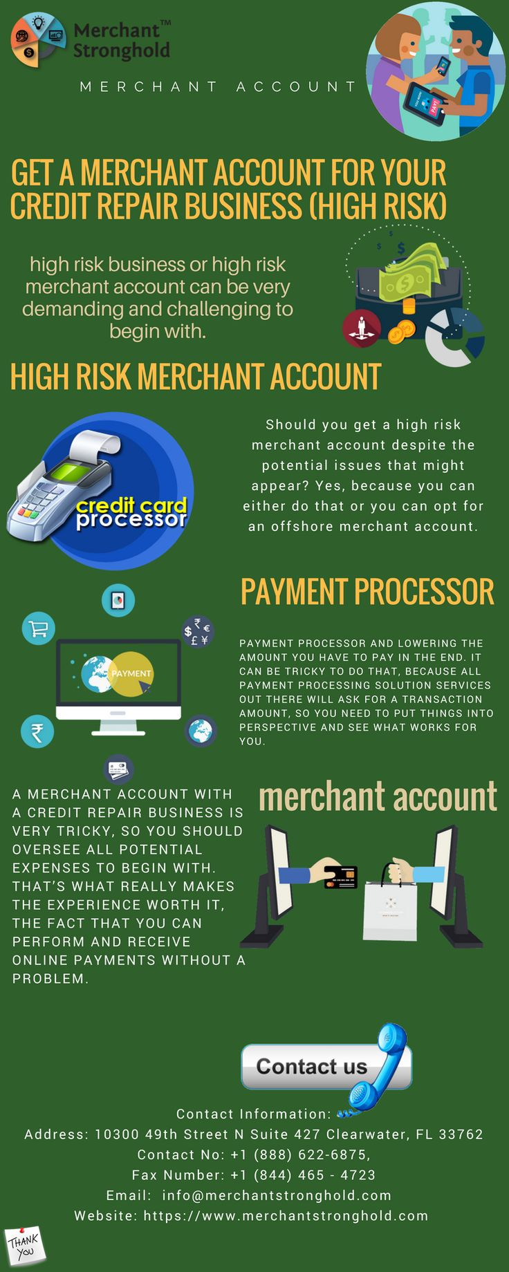 Get a high risk merchant account for your credit repair
