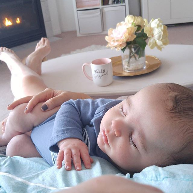 All tuckered out 💕 #sleepingbaby #baby #babyboy #babylifestyle
