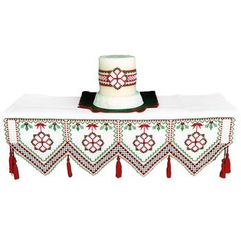 Hardanger Fireplace Mantle Cloth & Candle Wrap
