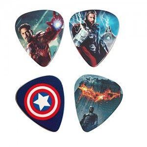 4-Piece-Superhero-Lead-Guitar-Picks-of-096mm-thickness-by-Worldmacs-0