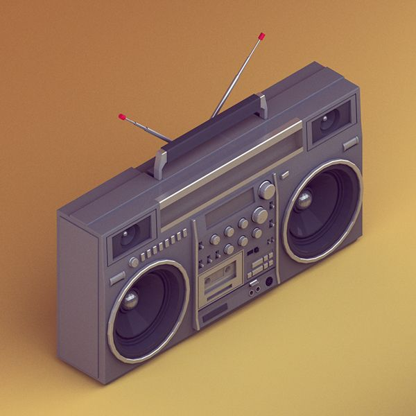 '30 isometric renders in 30 days' Round 2 on Behance - JVC RC-M90