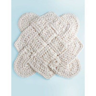 Free Crochet Pattern Sailor's Knot Dishcloth *