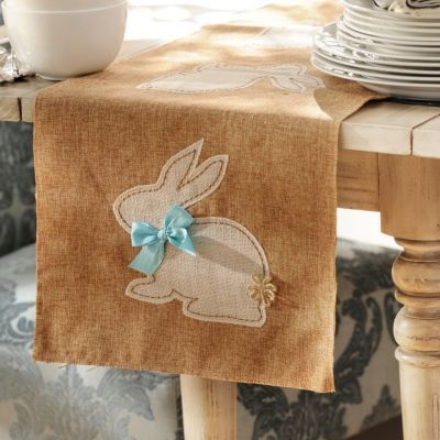 This Easter Bunny Table Runner will hop away with your heart! #kirklands #BunnyLove