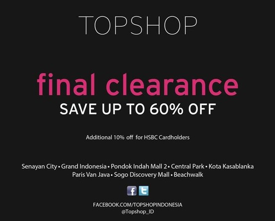 final clearance at TOPSHOP now!