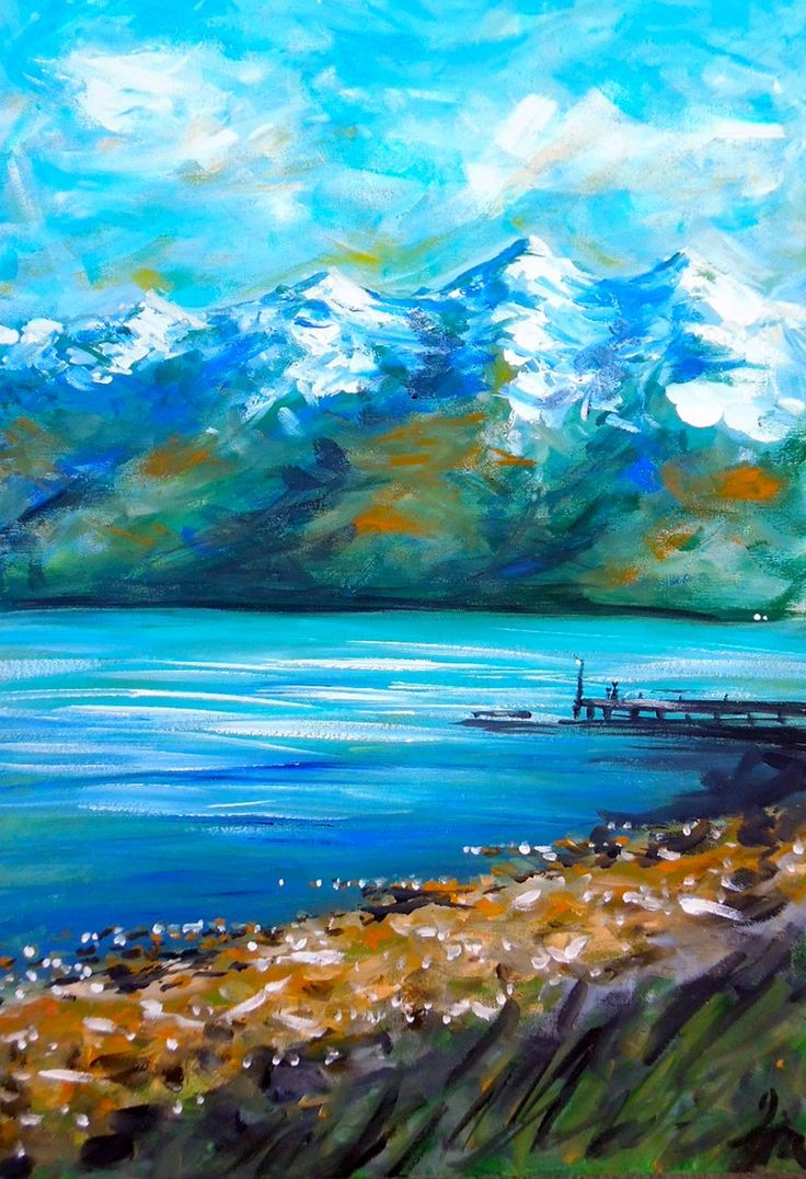 www.artbyira.net Image of Towards Kinloch from Glenorchy