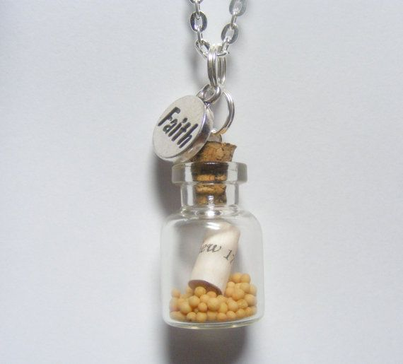 Faith Mustard Seed Bottle Necklace Pendant  Miniature by NeatEats, £11.99