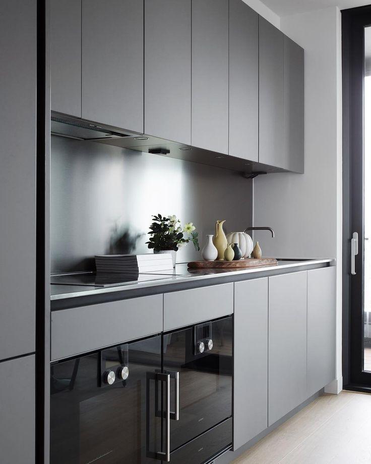 Grey Kitchen Kitchen Design Small Kitchen Layout Modern Kitchen Design