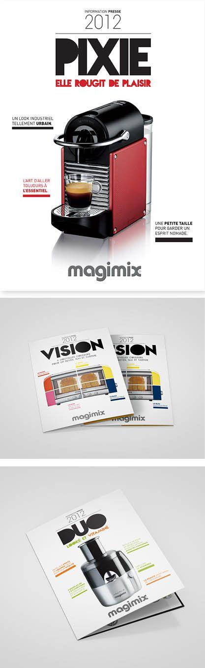 Design graphique : conception des dossiers de presse Magimix (2012)