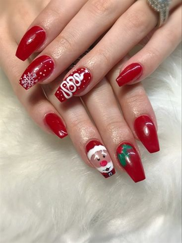 1740 best nail art  christmas and winter holidays images