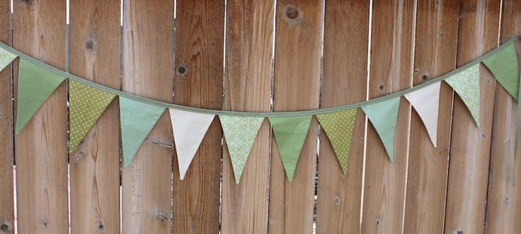 GREEN FABRIC GARLAND -- green party pennant fabric flag banner -- birthday fabric bunting -- pennant garland -- party bunting -- 9 feet by HatchlingsbyRachel on Etsy https://www.etsy.com/listing/128485153/green-fabric-garland-green-party-pennant