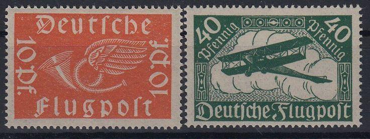 Deutsches Reich 1919 Flugpost  MiNr 111-112