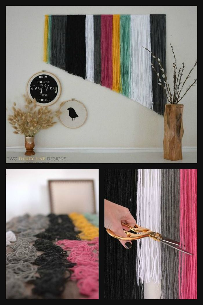 DIY Yarn Wall Art