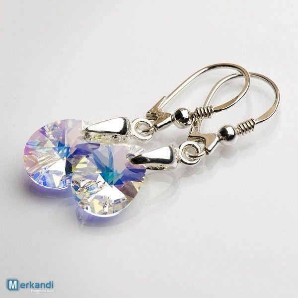 Orecchini in argento con Swarovski Elements - cristallo ab Xilion 12 m #88734 | Gioielli | merkandi.it