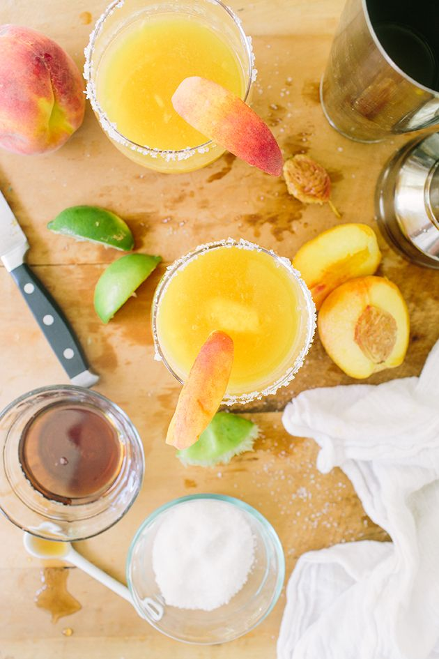 Peach Cinco de Mayo Cocktail via In Honor of Design
