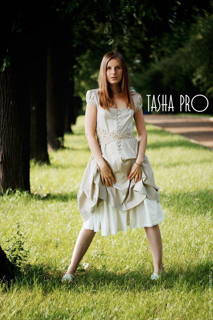 """Купить Платье в стиле Бохо """"Алиса"""" - серый, в полоску, бохо, выпускное платье…"""