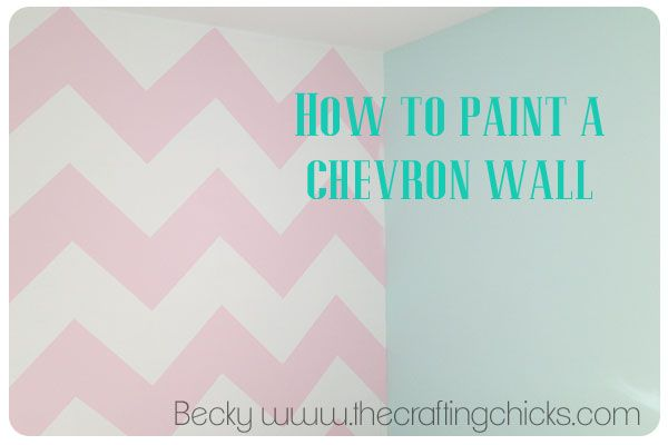 How to paint a chevron wall from www.Thecraftingchicks.com #chevronwall #howtopaintachevronwall #craftingchicks @Matt Valk Chuah Crafting Chicks
